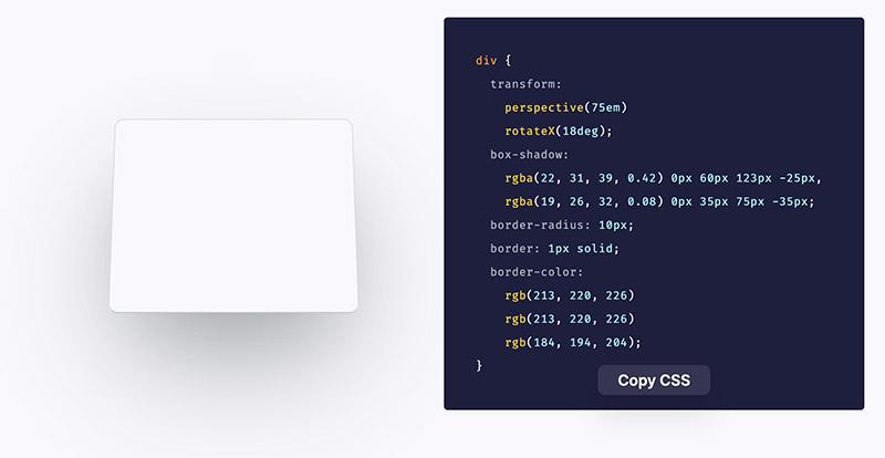 Beautiful CSS 3D Transform Examples