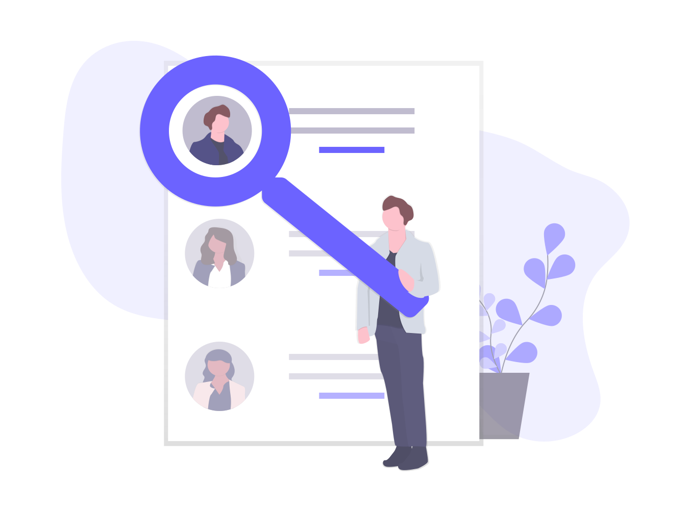 search page illustrations