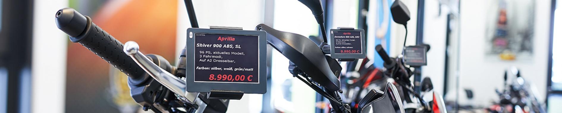 Digitale Preisschilder bei Wimmer und Merkel