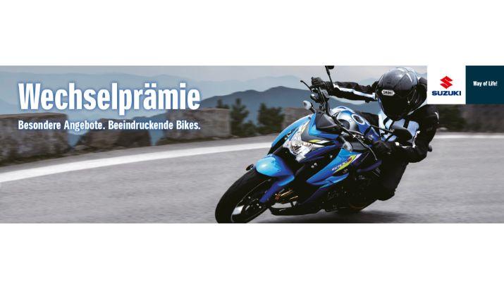 Wechselprämie und 50-50 Deal Suzuki Motorrad