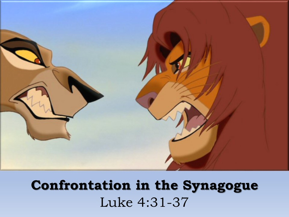 Confrontation in the Synagogue