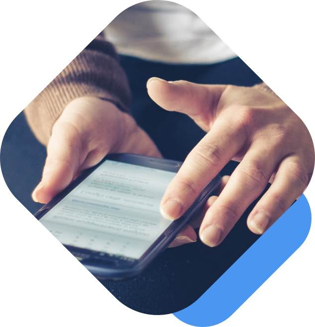 Hands Holding Cellphone - Online Payment