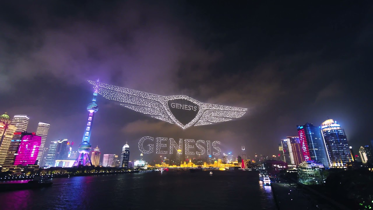 'Genesis Celebrates Launch In China With Dazzling, World Record-breaking Drone Show Over Shanghai's Iconic Skyline'