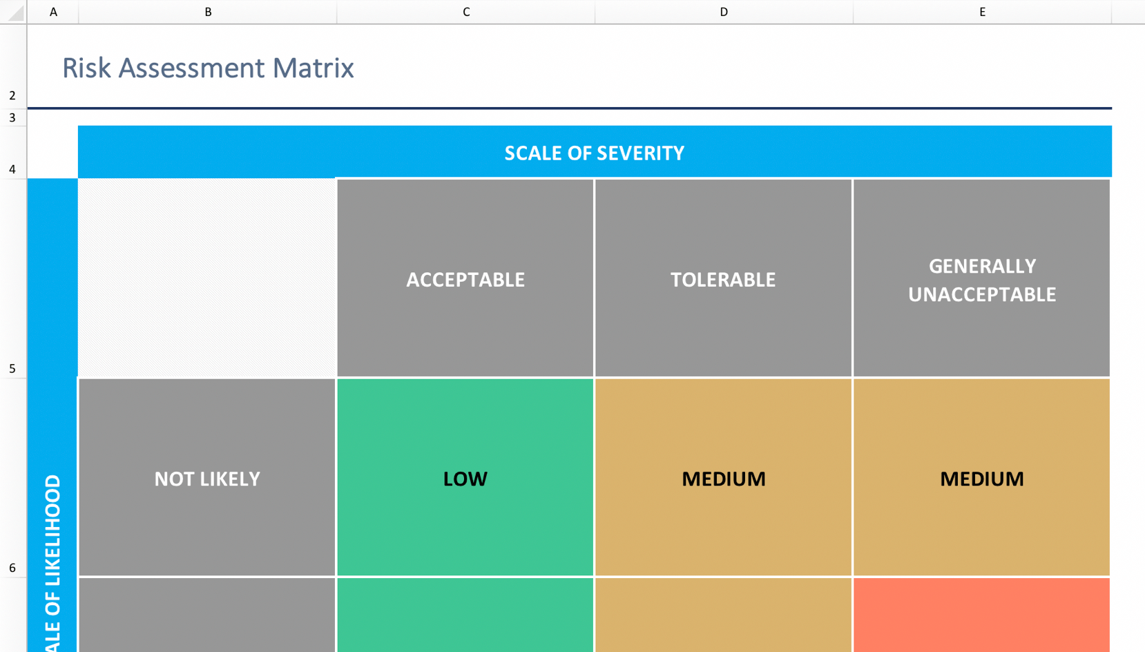 Risk Assessment Matrix Template: Download Now | TeamGantt