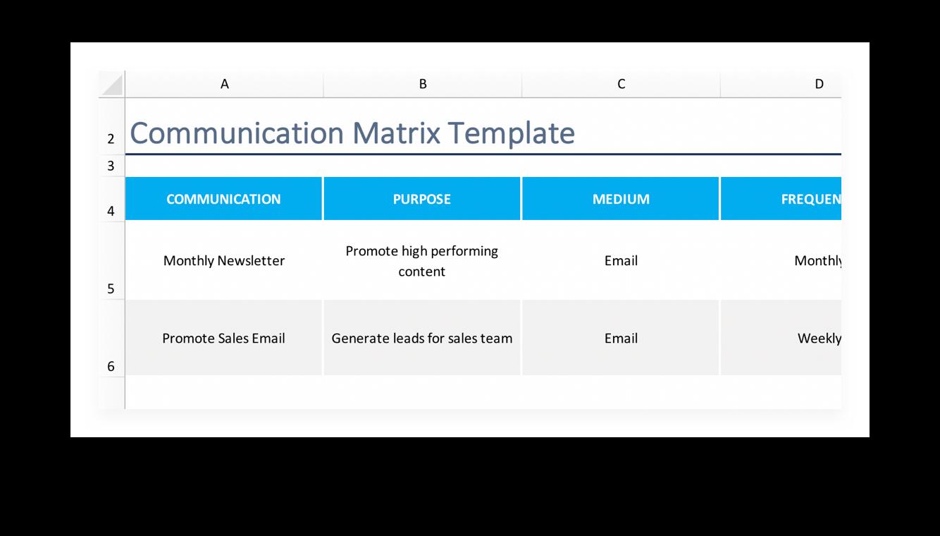 Communication Matrix How To Template Teamgantt