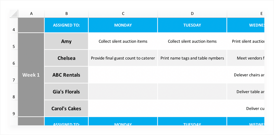 Free Project Schedule Template For Excel Teamgantt