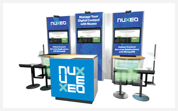 Nuxeo - MongoDB Europe event booth