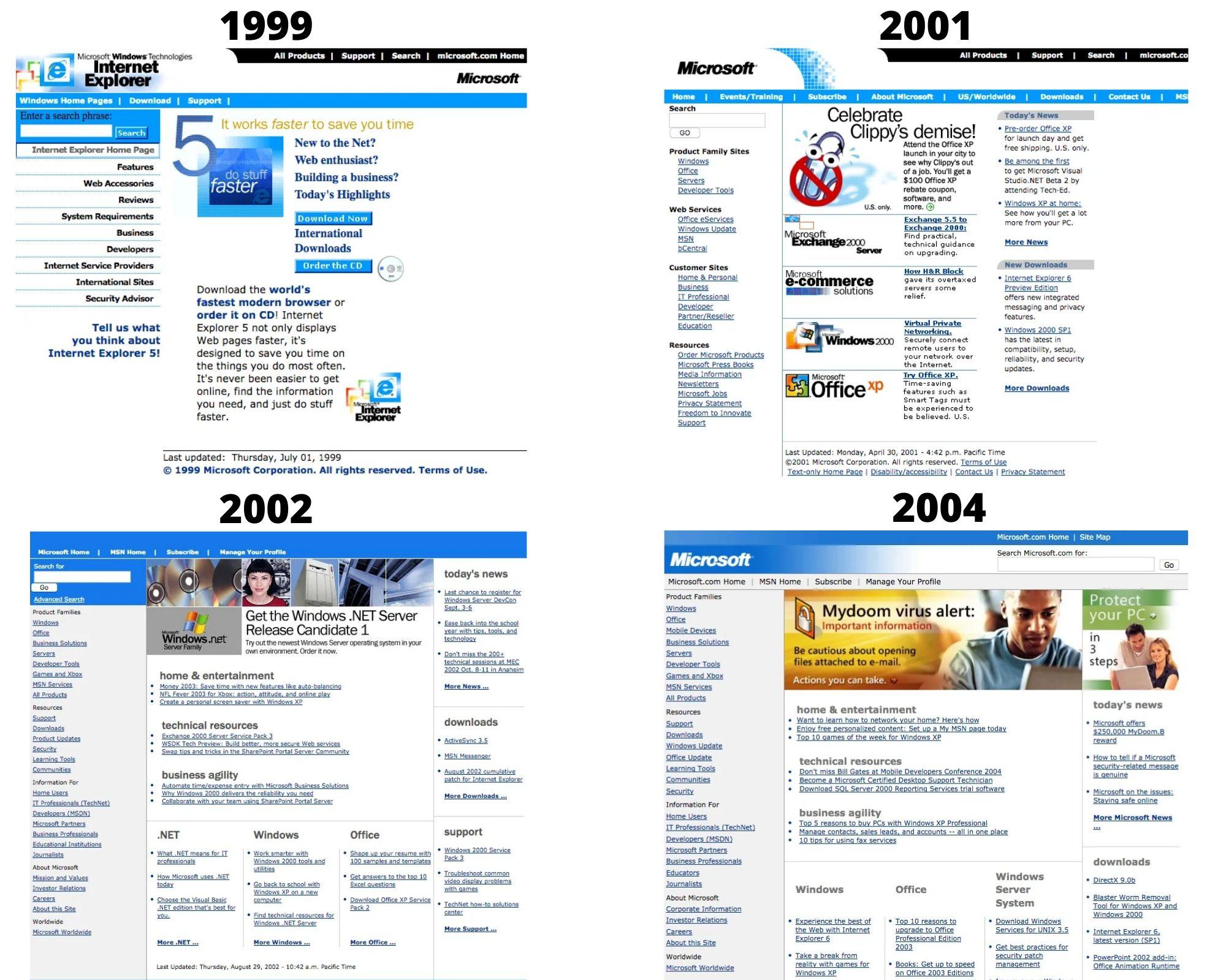 Microsoft design 199 to 2004