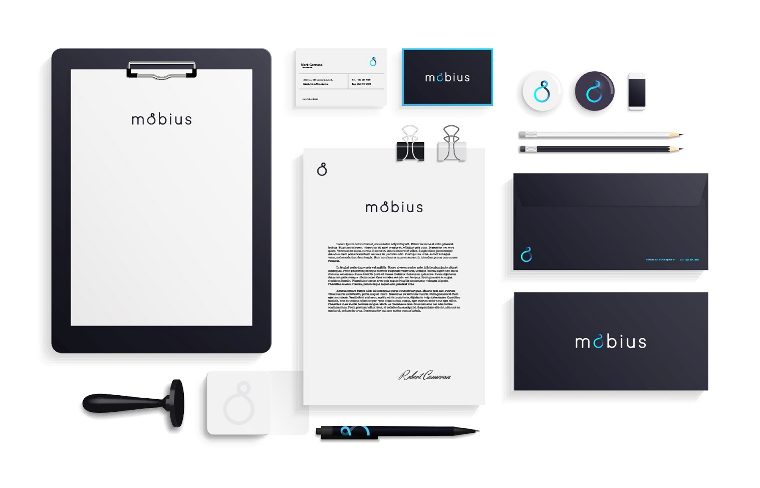 Brand assets for Mobius