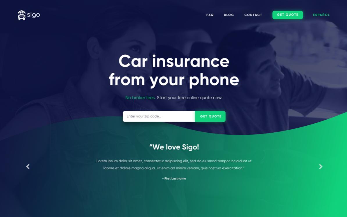 Sigo - Landing Page