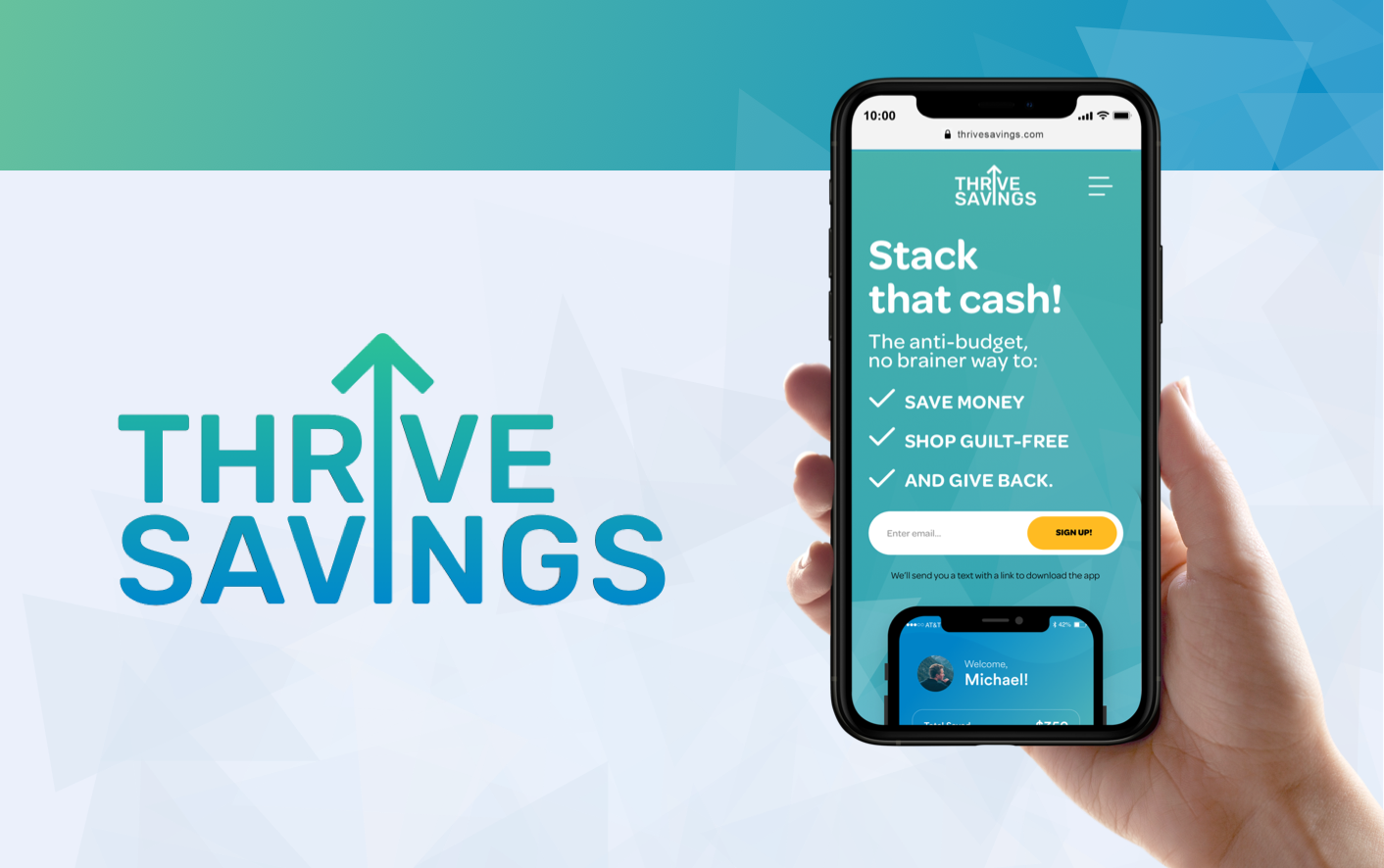 Thrive Savings - Landing Page