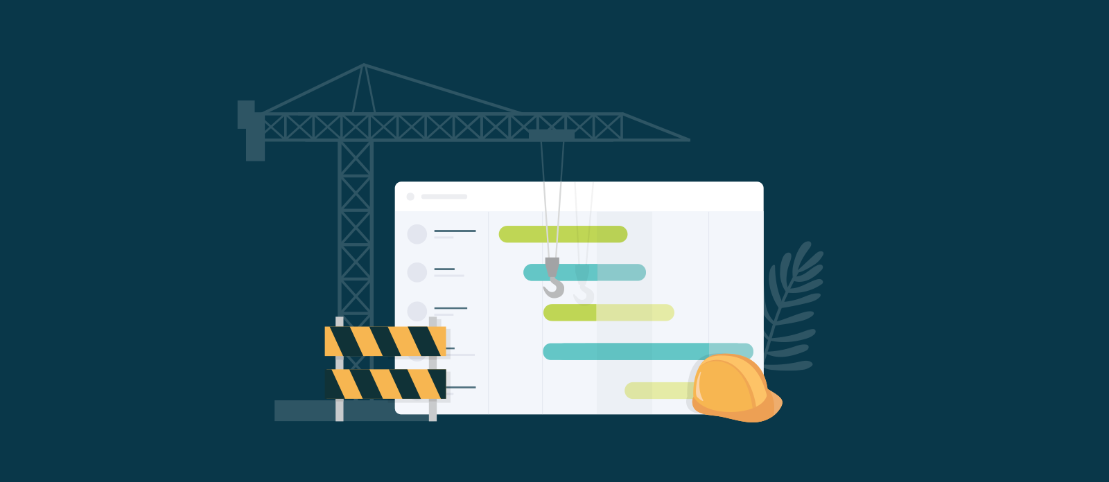 planning a construction project schedule with a gantt chart