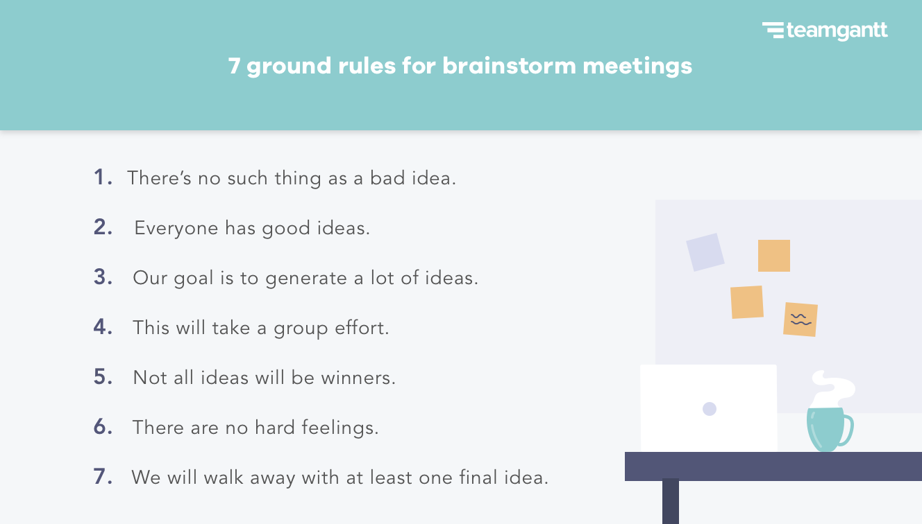 7 ground rules for brainstorm meetings