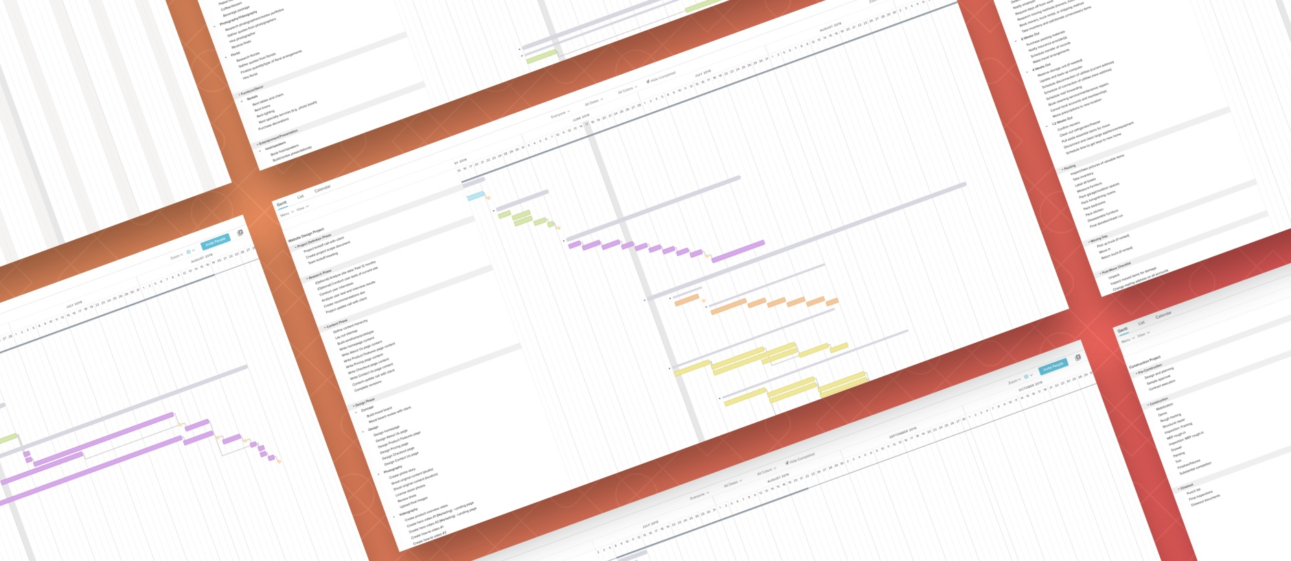 gantt chart examples for project management