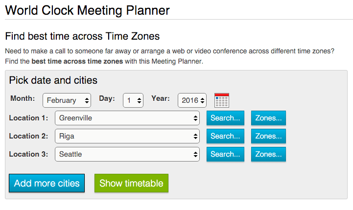 world clock meeting planner to find the best time across time zones