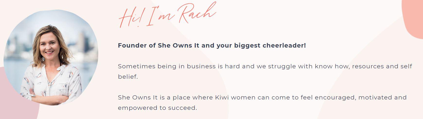 She Owns It NZ - Lucy Bekker