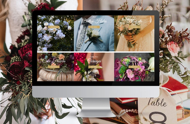 Wedding Flowers Website - Michelle Sullivan