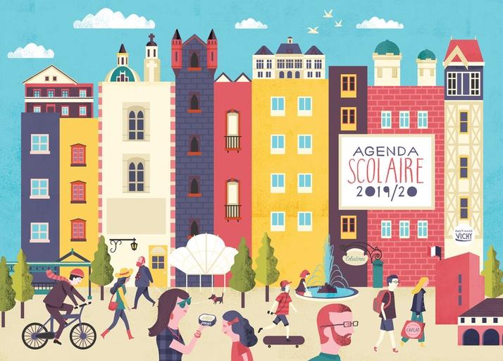 School Agenda Cover Illustration - Gary Venn