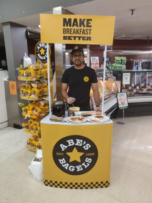 Abe's Bagels Supermarket Sampling - Portia Brodie