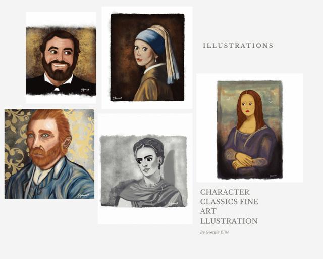 Classical Illustrations  - Georgia  Spence