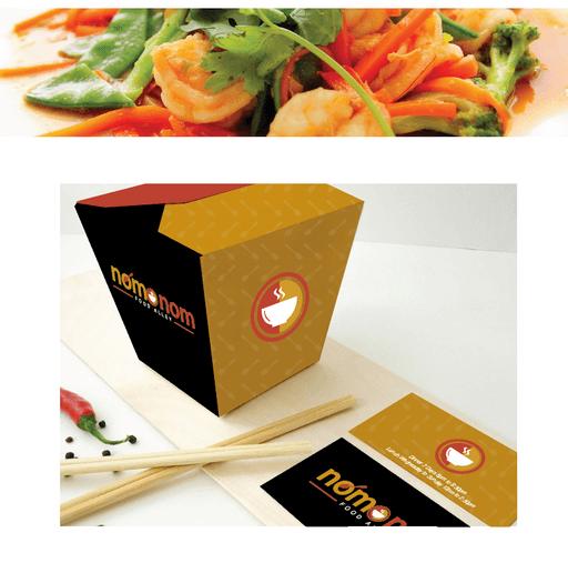 NOM NOM restaurant branding - Sarah Rees