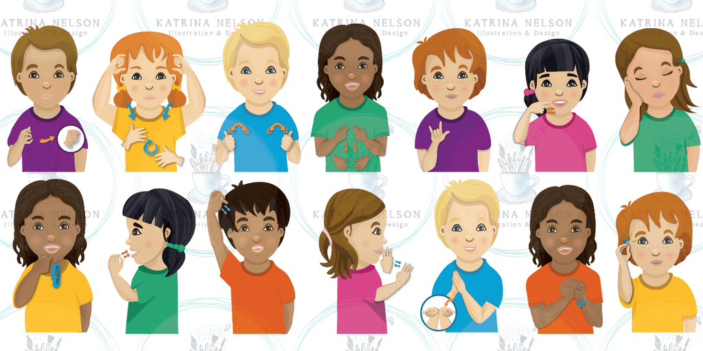 Children's Sign Language Posters - Katrina Nelson