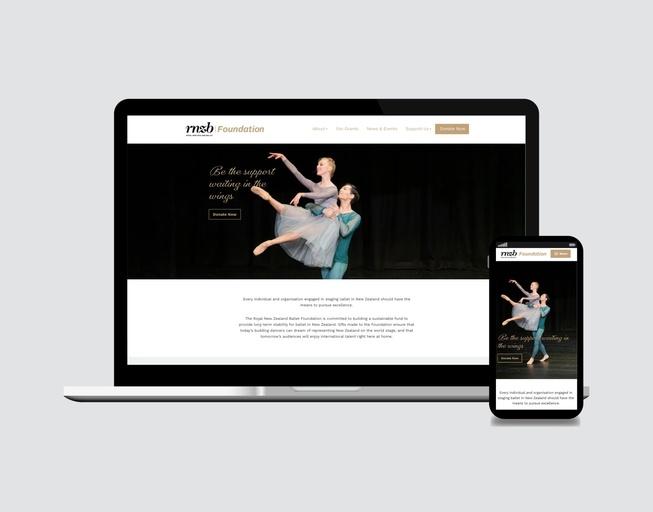 Royal New Zealand Ballet Foundation Website Design - Celia Melville
