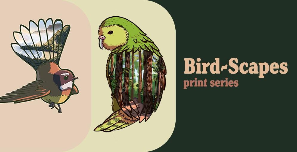 Bird-Scapes Art Print series  - Ben Corlett
