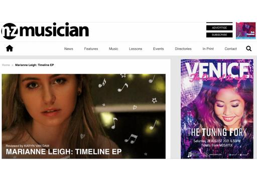 Review for NZ Musician Magazine - Marianne Leigh: Timeline - Karyn Van Dam