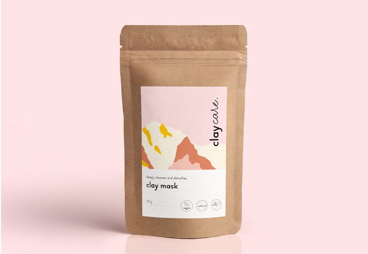 Clay Care brand and packaging design - Abby Marriott