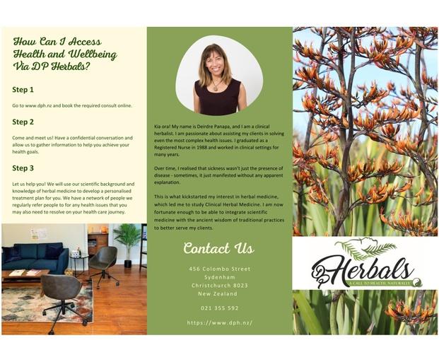 DP Herbals Brochure - Johanna Ryan