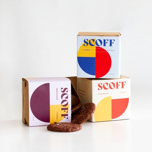 Scoff Cookie Packaging Graphic Design - Mette Harker