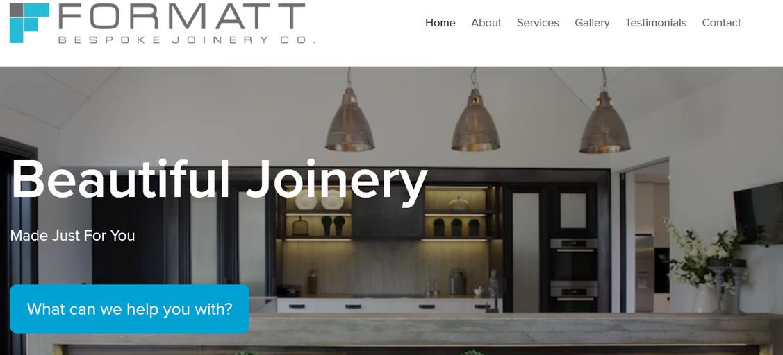 Formatt Bespoke Joinery Co.  Website Copy - Alex Kerr