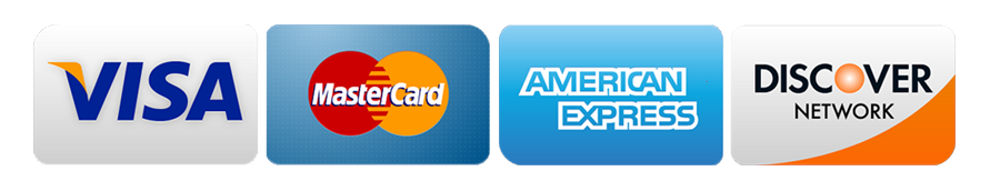 Payments we accept visa, mastarcard, amex, and discover