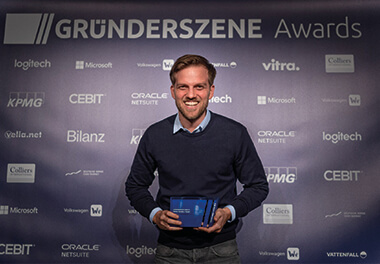 "SEVEN SENDERS wins Gründerszene Award 2018 in the category ""Mobility"""