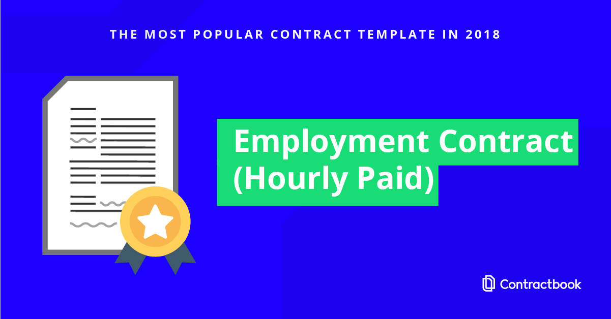 Den mest brugte skabelon på Contractbook: En ansættelseskontrakt