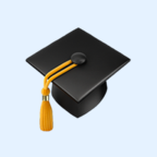 Mortar board emoji