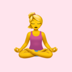 Girl meditating emoji