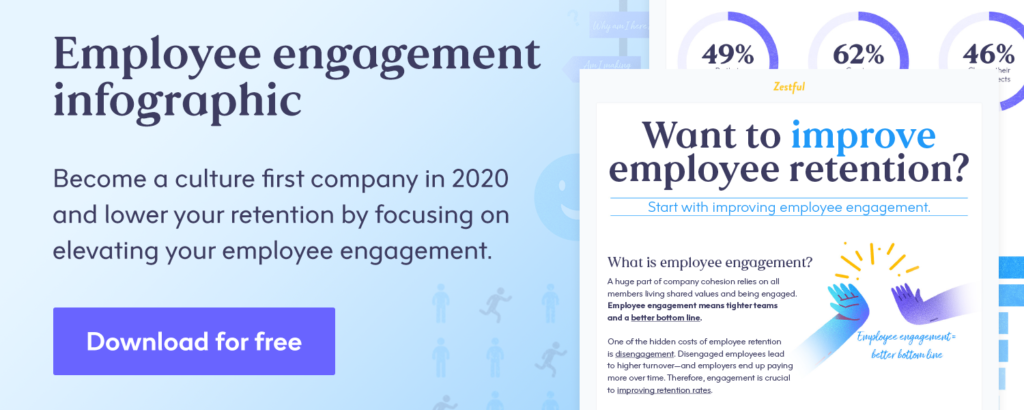 Free infographic download: improving employee retention by improving employee engagement