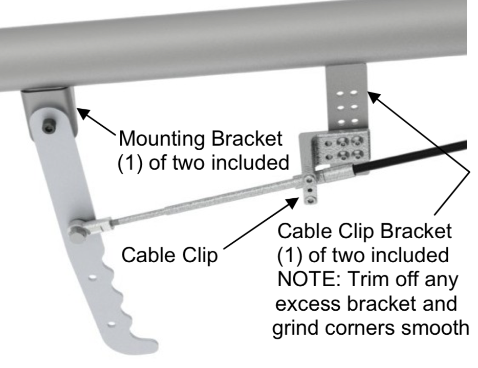 Proper installation of parachute release cable kit