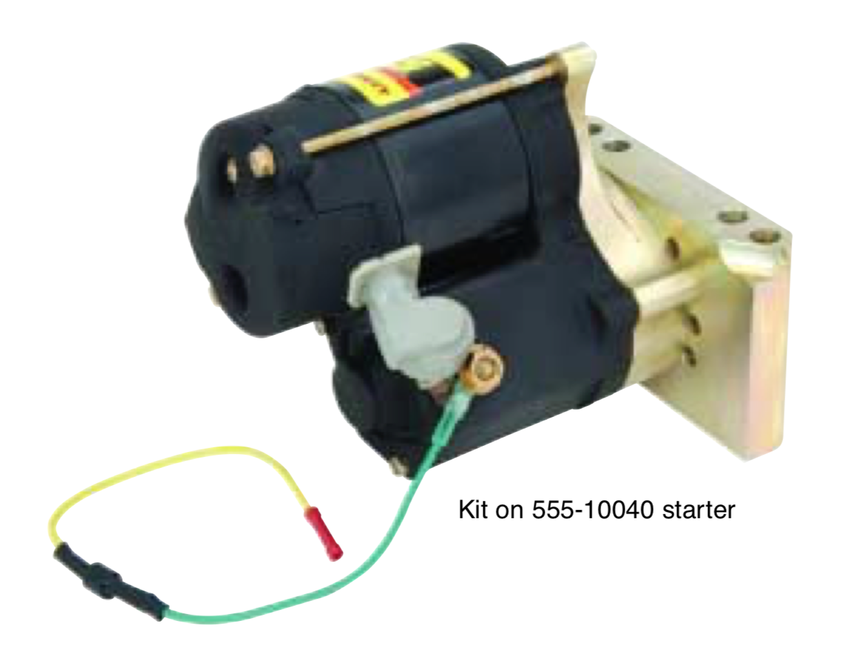 555-1038 R terminal diode kit installed on a 555-10040 starter