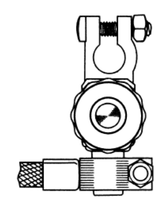 diagram of properly assembled battery disconnect switch