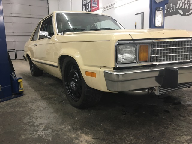 front view of eric the car guy's turbo fairmont