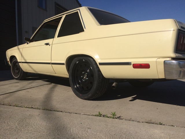 side view of eric the car guy's turbo fairmont