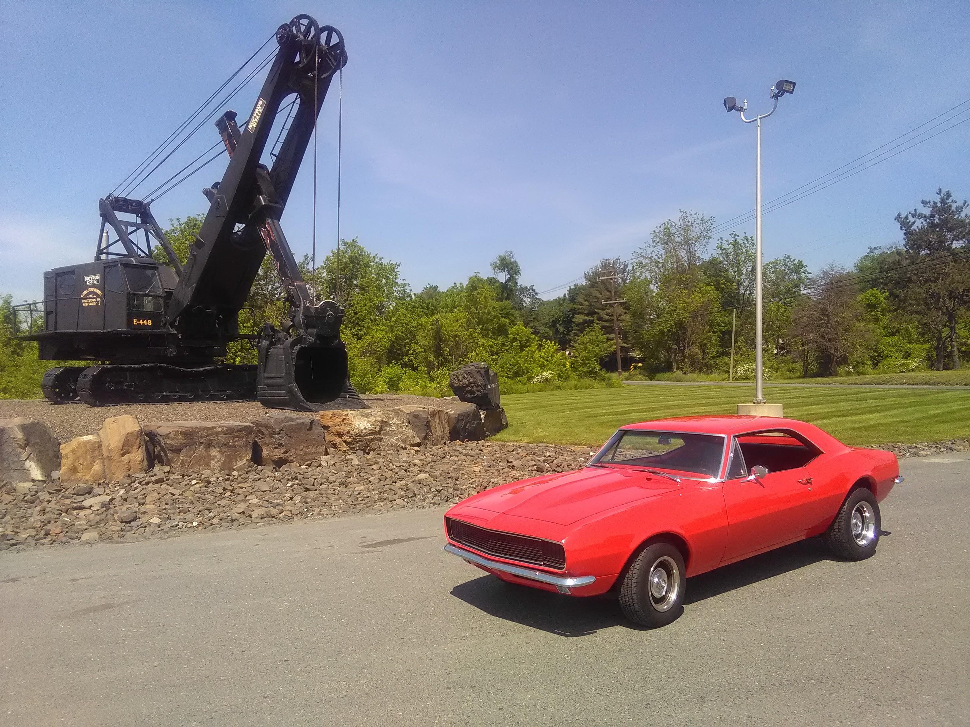 1967 red chevy camaro