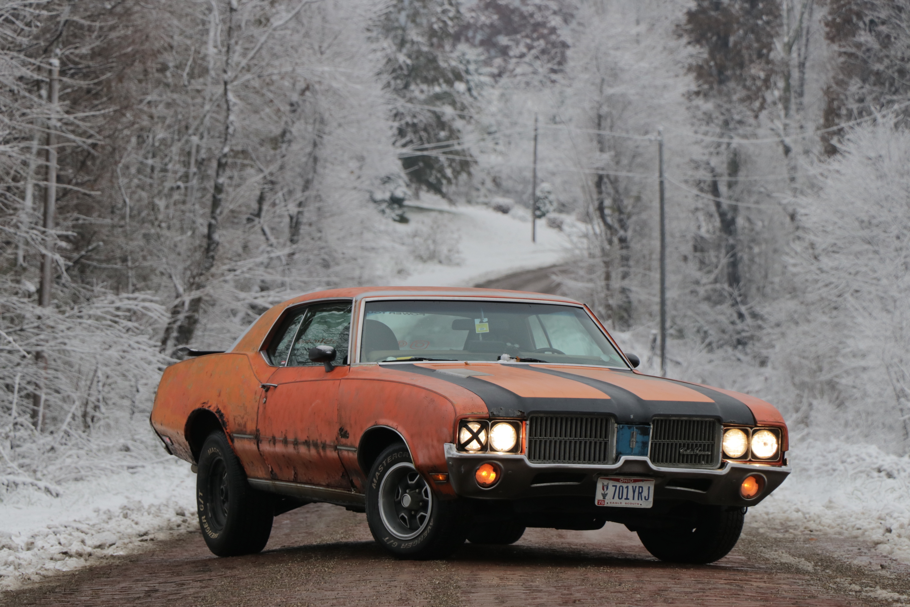 orange 1972 oldsmobile cutlass supreme