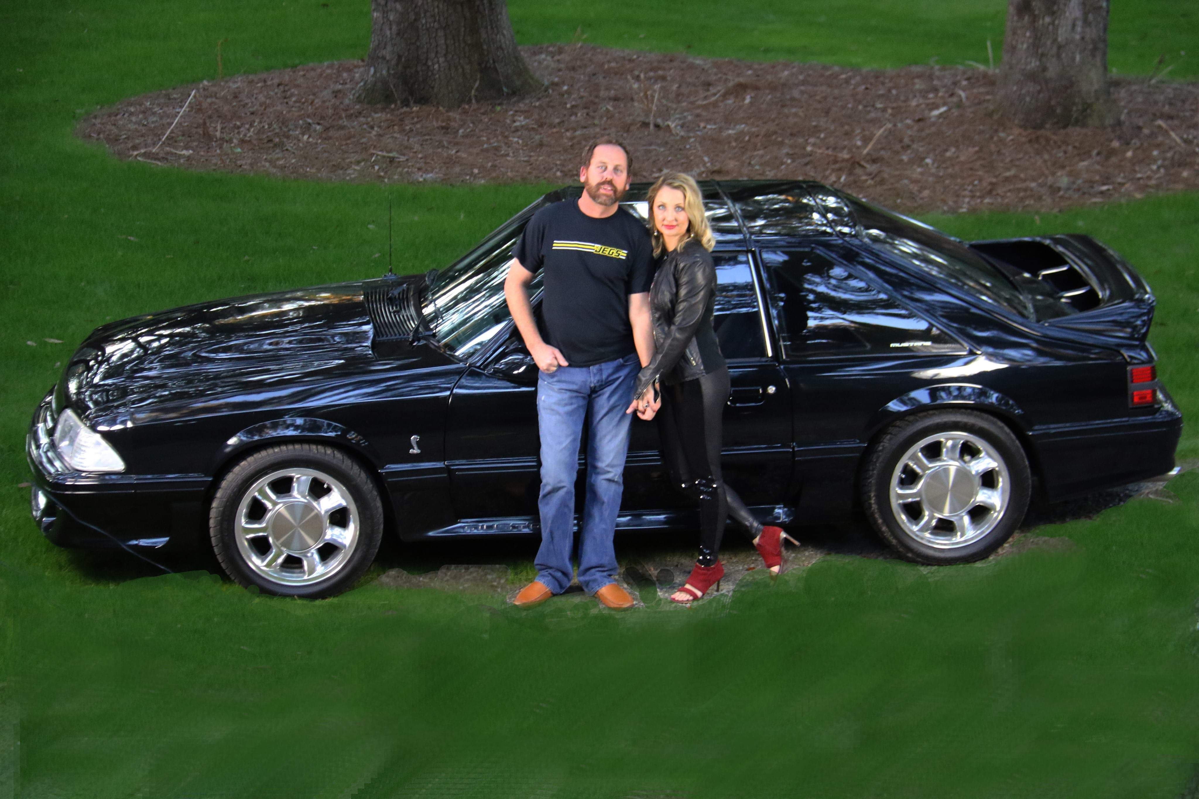 billy akers's 1987 black ford mustang