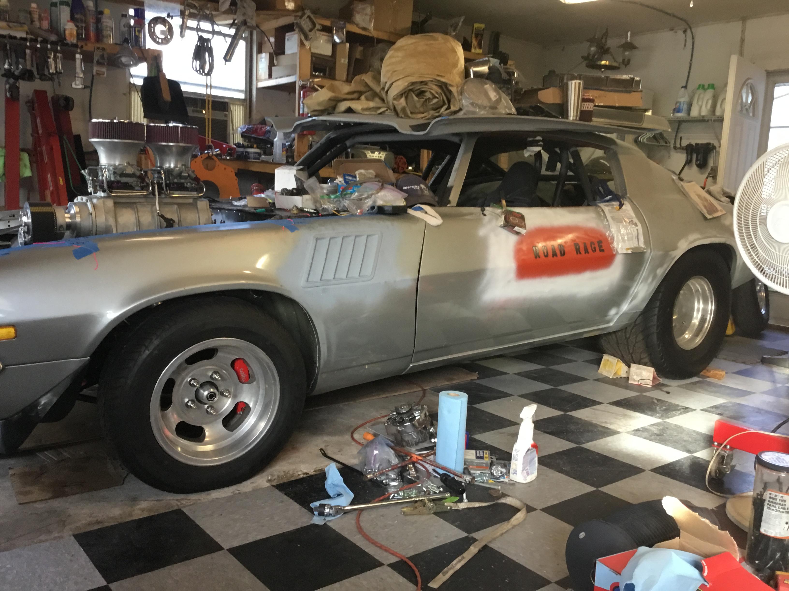 silver 1972 chevrolet camaro