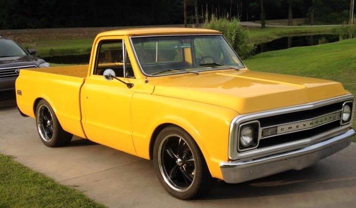 yellow 1970 chevy c10
