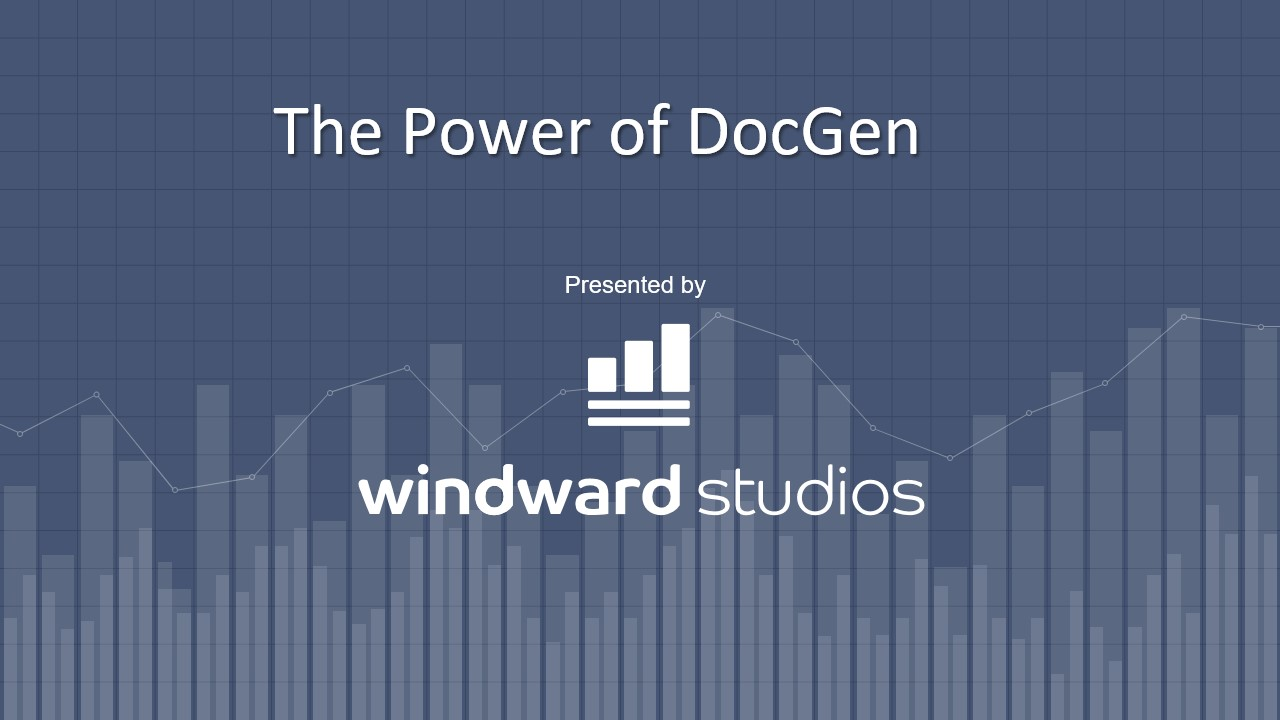 PPTX intro slide for The Power of DocGen